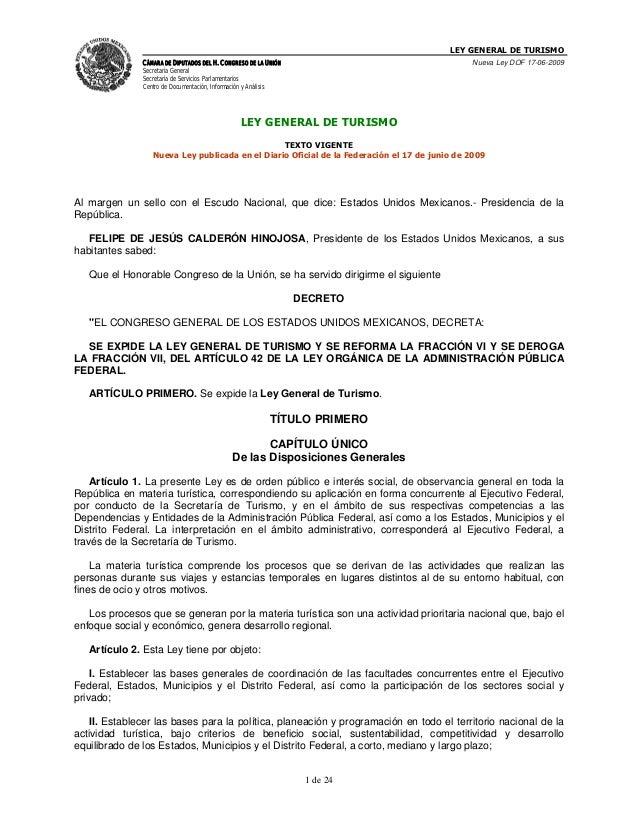 Ley general de_turismo