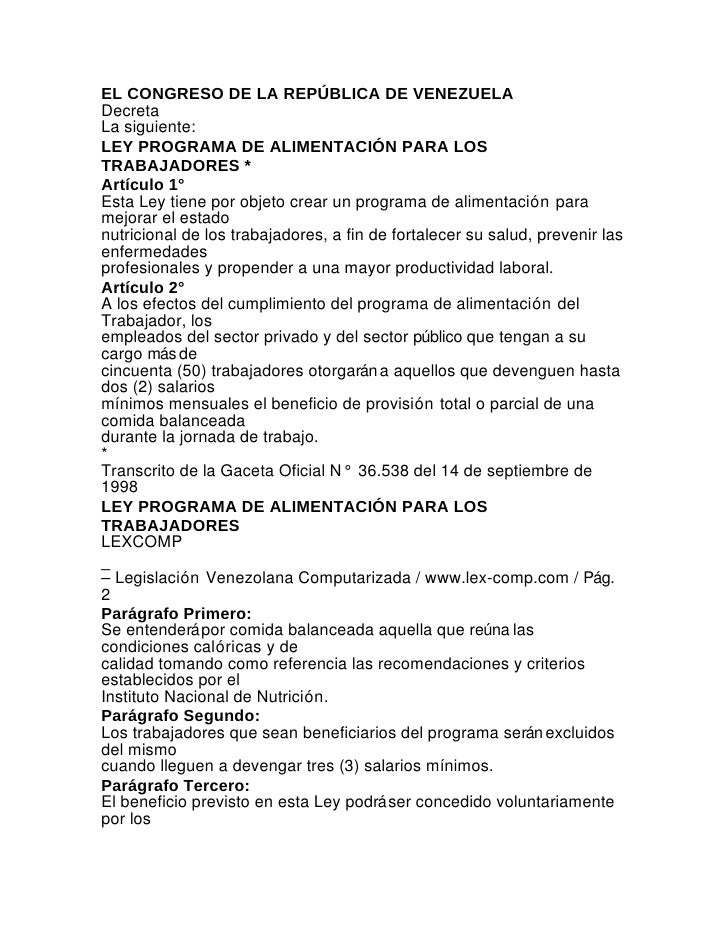Ley laboral - Venezuela