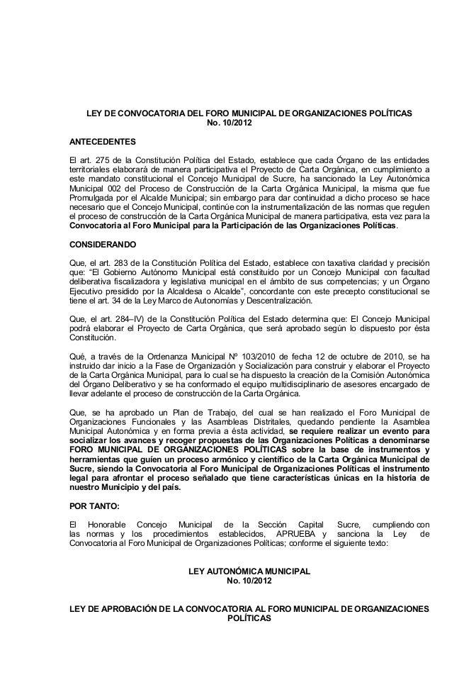 YEL ED AIROTACOVNOC LED LAPICINUMOROF ED SACITÍLOPSENOICAZINAGRO .oN 01 / 02 21 ETNEDECETNA S odatsEledacitíloPnóicutitsno...