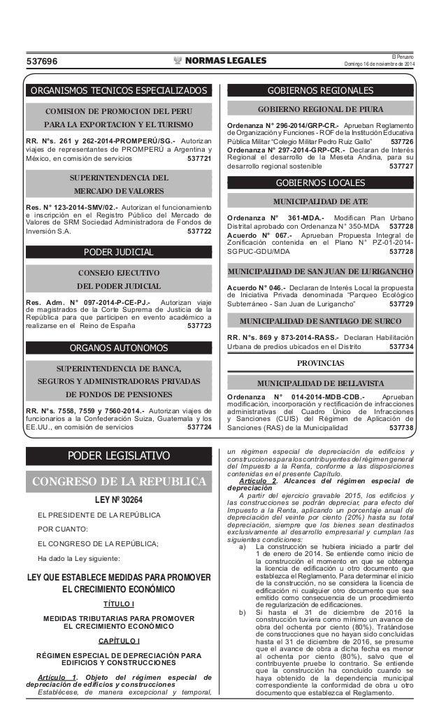 El Peruano Domingo 16 de noviembre de 2014537696 ORGANISMOS TECNICOS ESPECIALIZADOS COMISION DE PROMOCION DEL PERU PARA LA...