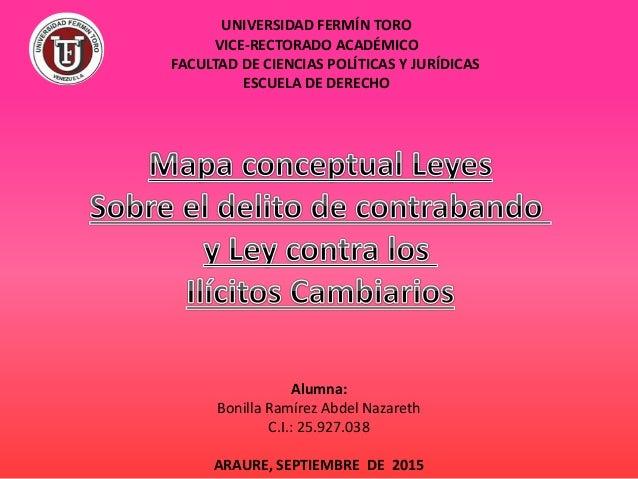 UNIVERSIDAD FERMÍN TORO VICE-RECTORADO ACADÉMICO FACULTAD DE CIENCIAS POLÍTICAS Y JURÍDICAS ESCUELA DE DERECHO Alumna: Bon...