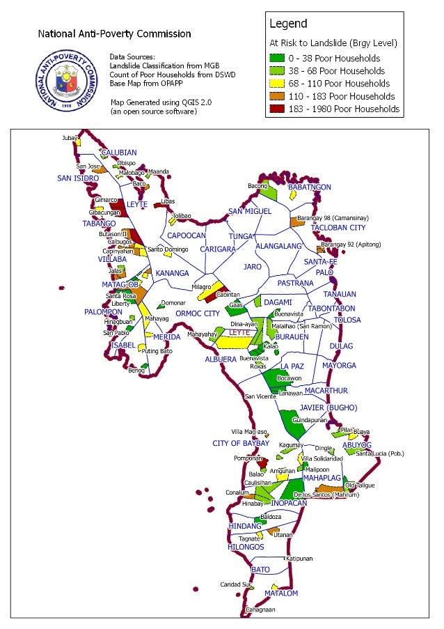 Leyte landslide areas