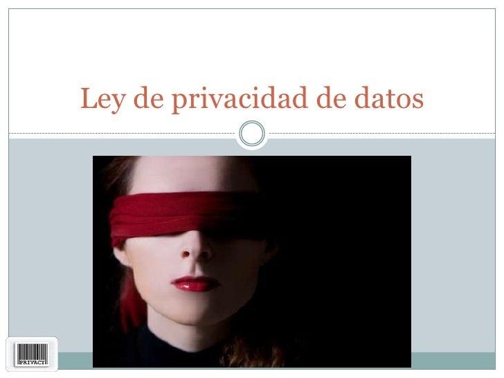 Ley y ofrecimiento de privacidad de datos v2
