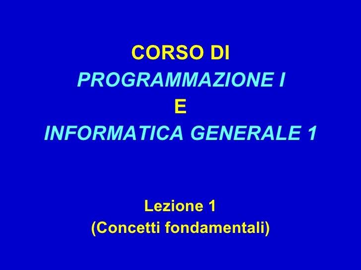 01 - Programmazione: Dai Problemi ai Programmi