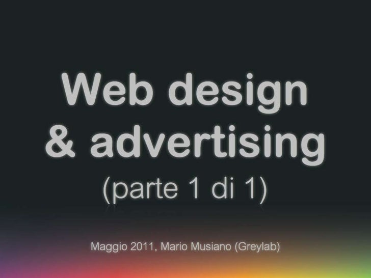 Web advertising (part 1)