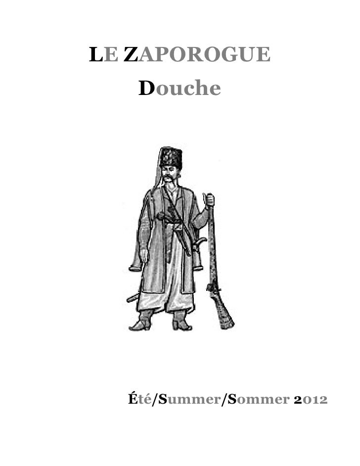 LE ZAPOROGUE   Douche  Été/Summer/Sommer 2012
