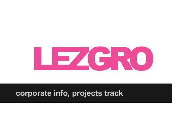 corporate info, projects track
