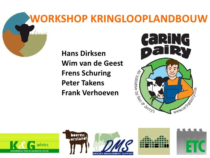 Lezing kringloop Workshops Caring Dairy