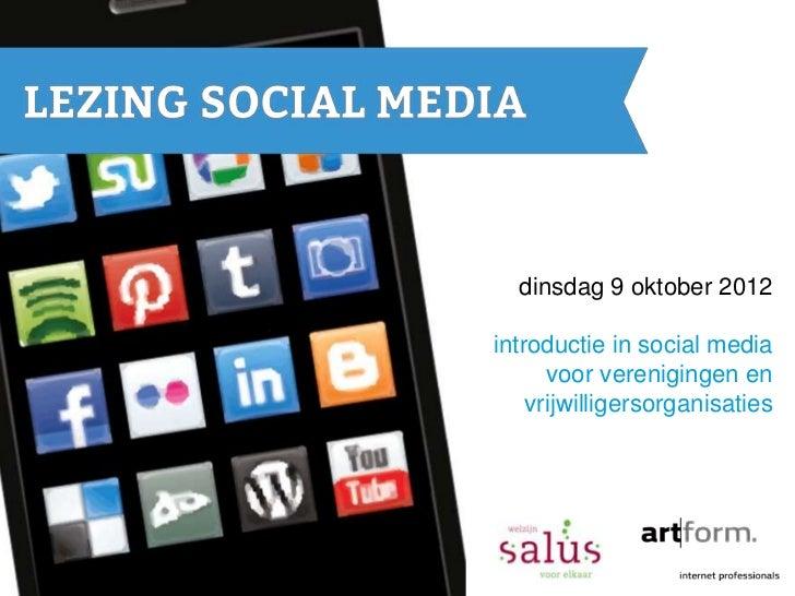 Workshop Social Media voor verenigingen en vrijwilligersorganisaties in Sint-Oedenrode en omstreken