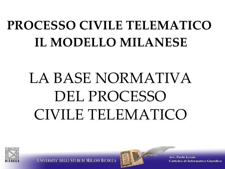 04 Paolo Lessio, Processo civile telematico