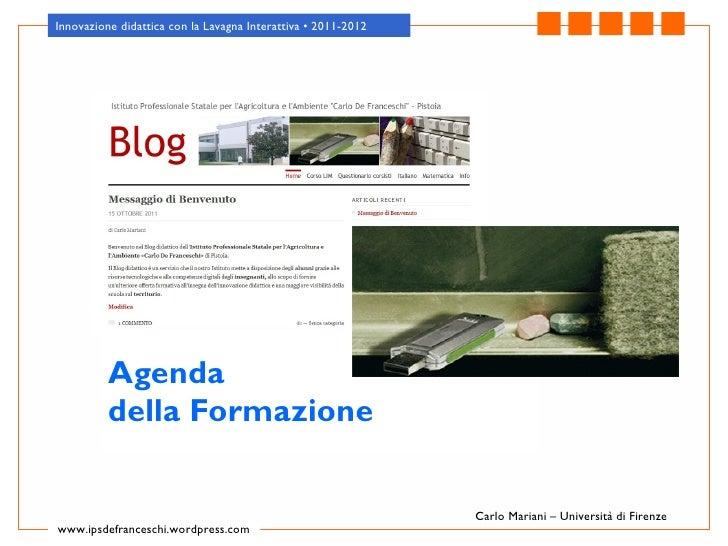 Lezione 1   presentazione corso de franceschi