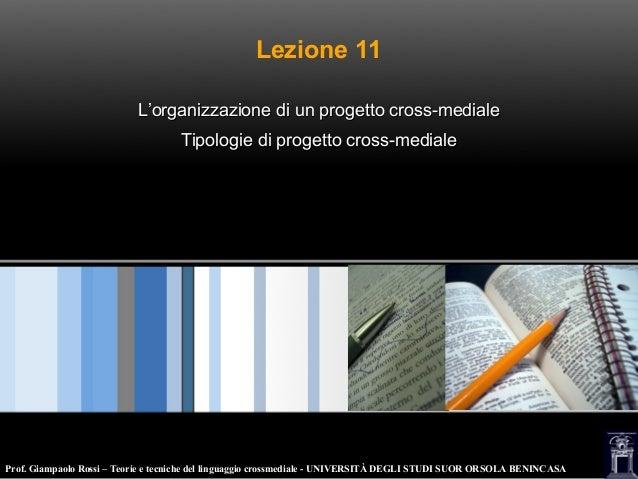 Lezione 11. progetto crossmediale