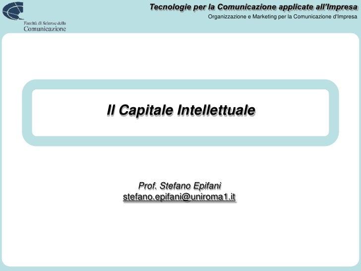 Il Capitale Intellettuale<br />