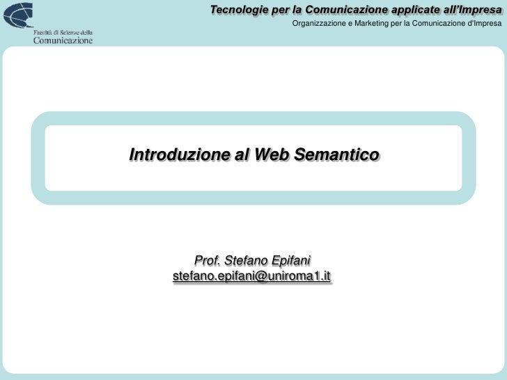 Introduzione al Web Semantico<br />