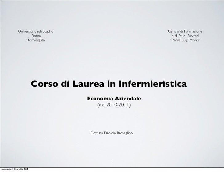 Università degli Studi di                                  Centro di Formazione                      Roma                 ...