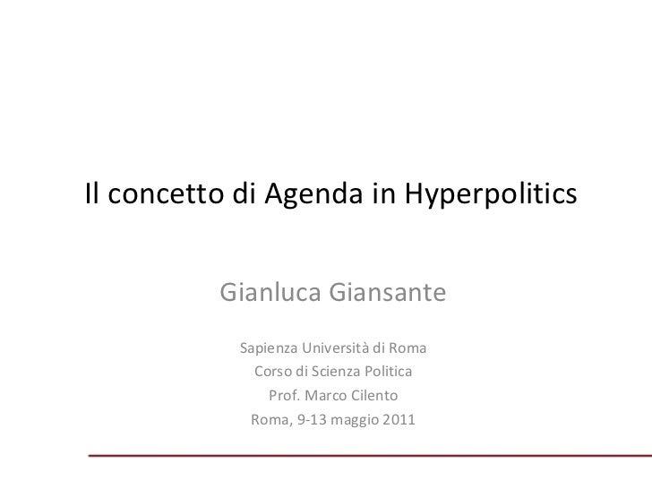 Il concetto di Agenda in Hyperpolitics