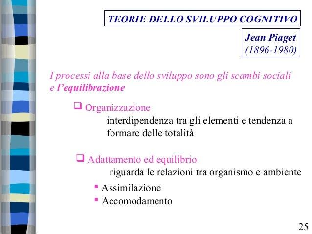 TEORIE DELLO SVILUPPO COGNITIVO Jean Piaget (1896-1980) I processi alla base dello sviluppo sono gli scambi sociali e l'eq...