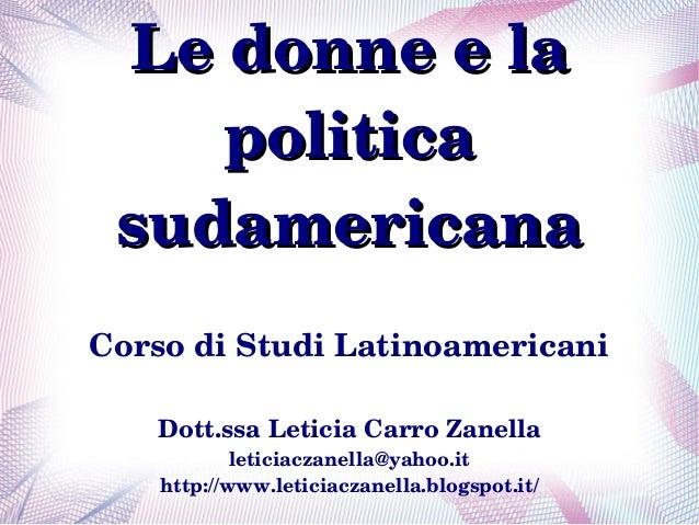Lezione donne e politica