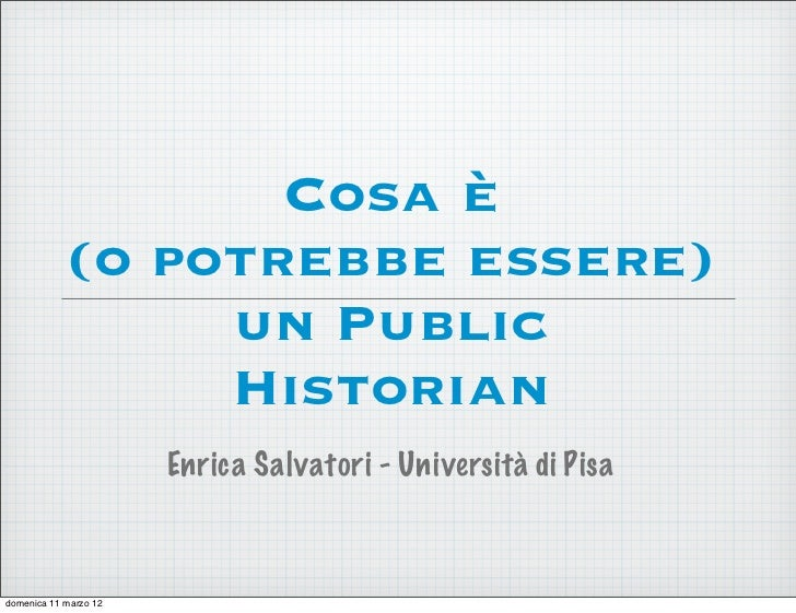 Who is a Public Historian