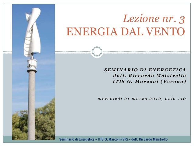 4/10 - Wind energy - Fundamentals of Energy Technology (Italian)