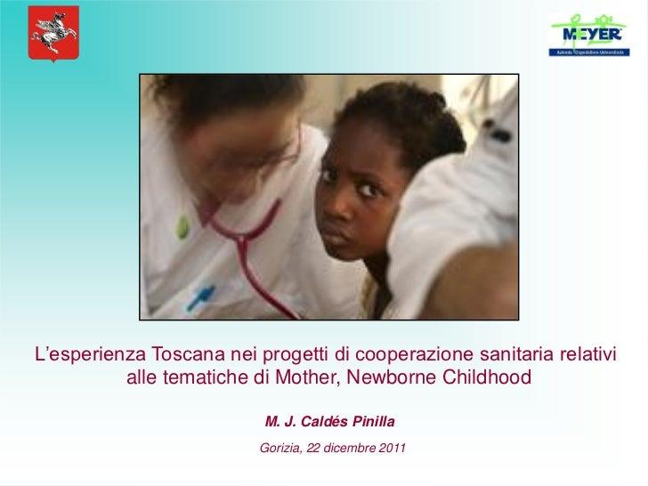 L'esperienza Toscana nei progetti di cooperazione sanitaria relativi          alle tematiche di Mother, Newborne Childhood...