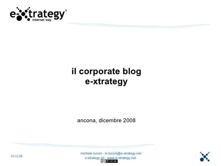 e-xtrategy corporate blog (e i suoi fratelli)