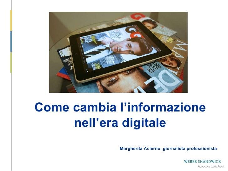 L'evoluzione dell'informazione nell'era digitale