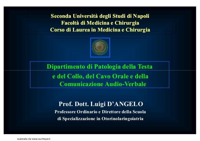 Seconda Università degli Studi di NapoliSeconda Università degli Studi di Napoli Facoltà di Medicina e ChirurgiaFacoltà di...