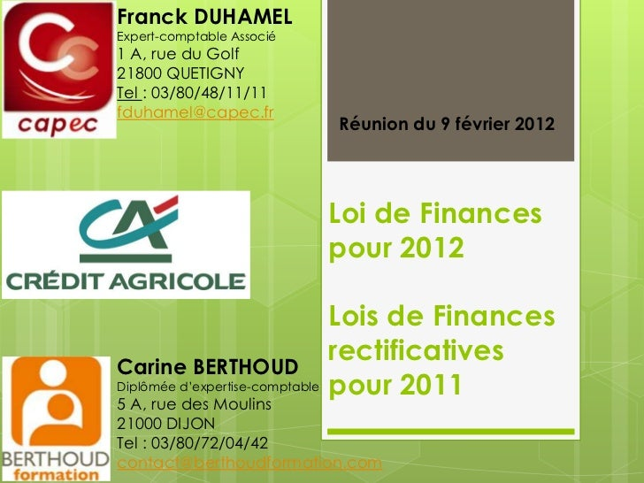 Franck DUHAMELExpert-comptable Associé1 A, rue du Golf21800 QUETIGNYTel : 03/80/48/11/11fduhamel@capec.fr                 ...