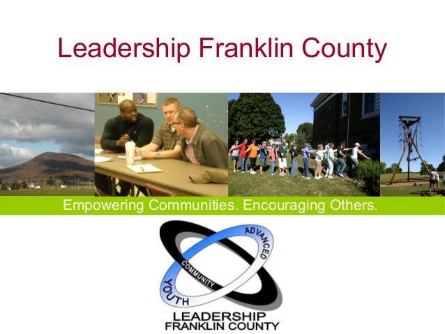 Leadership Franklin County (PA) Presentation