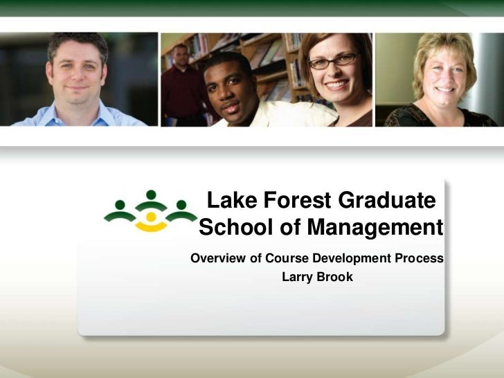 Lake Forest Graduate School of ManagementOverview of Course Development Process              Larry Brook