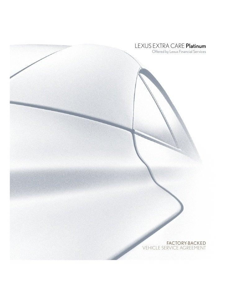 Lexus Warranty | Lexus Extra Care
