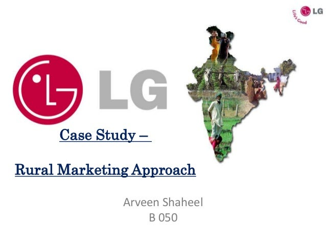 lg rural marketing Ppt is all about lg's marketing strategies to enter in rural market.