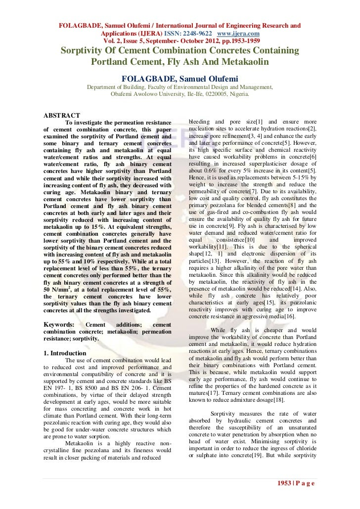 FOLAGBADE, Samuel Olufemi / International Journal of Engineering Research and               Applications (IJERA) ISSN: 224...