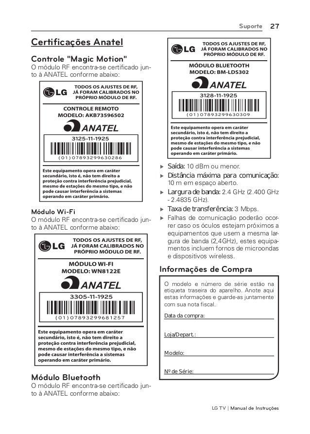 LG 32LM6400 Manual de Instruções da TV
