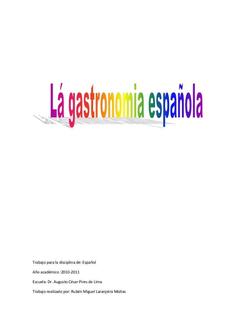 Lá gastronomia española
