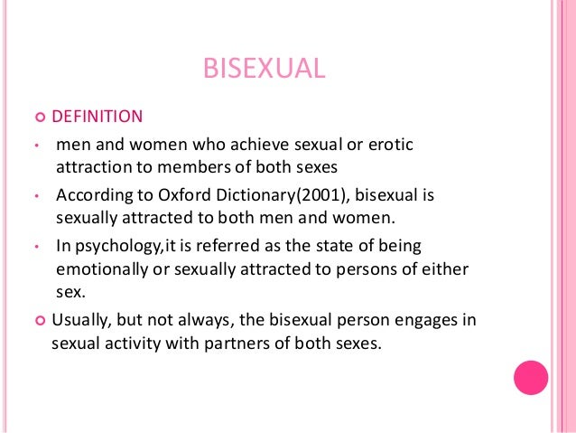 Meaning of bisexual