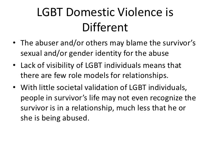 domestic violence against homosexuals