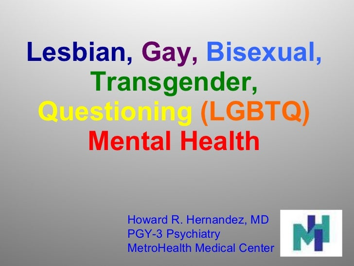 Lgbtq Mental health