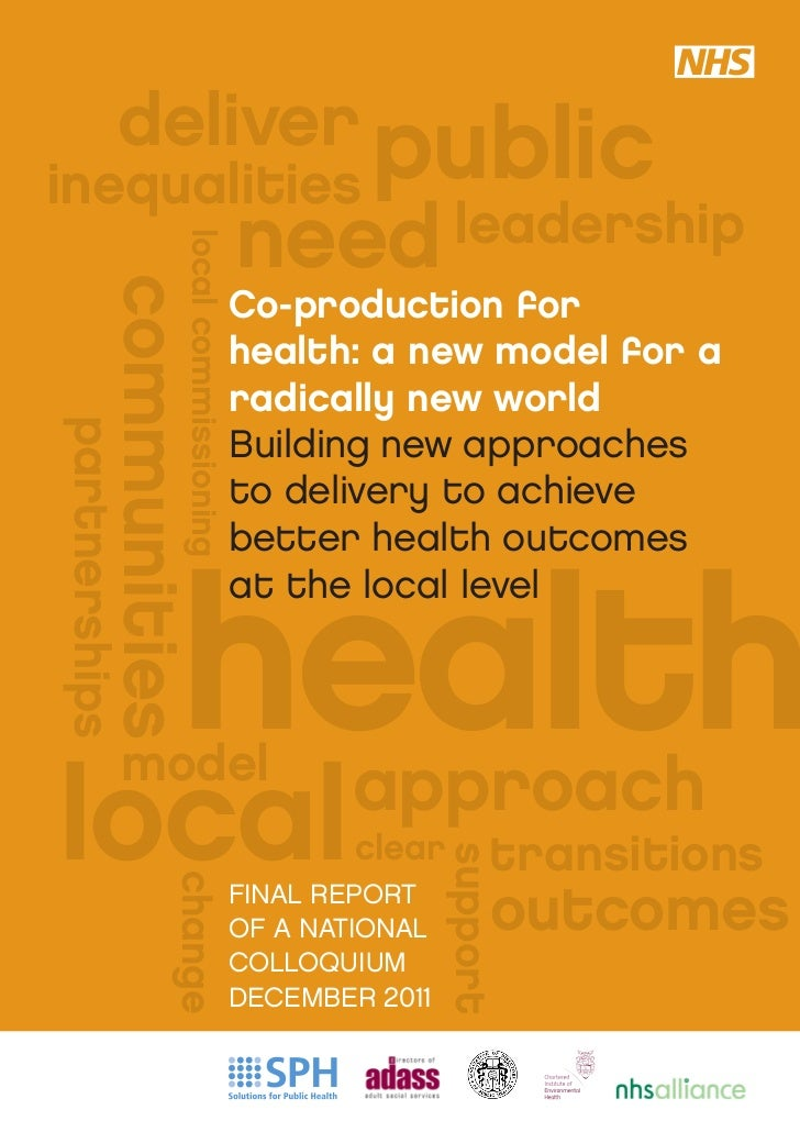 deliver publicinequalities                                       need leadership                 local commissioning      ...