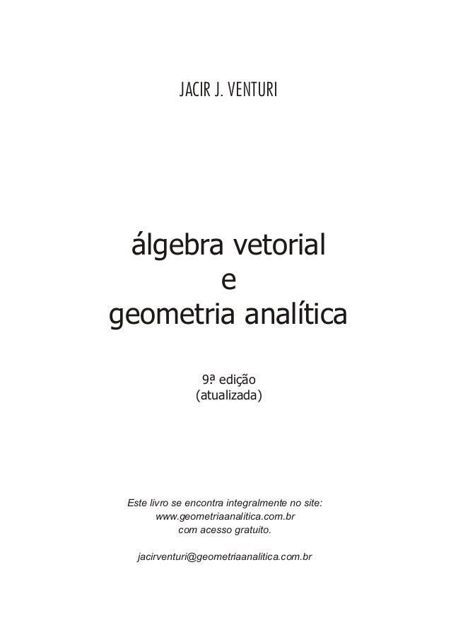 áLgebra vetorial e geometria analítica