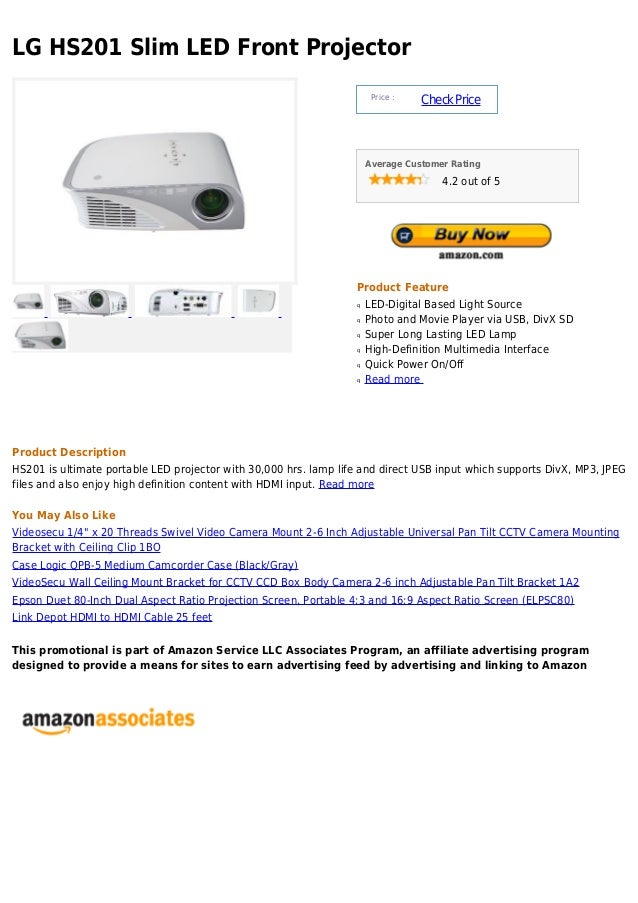 LG HS201 Slim LED Front Projector                                                                       Price :           ...