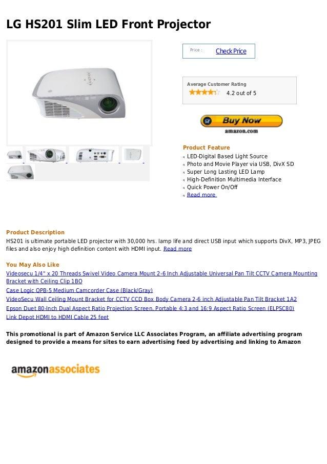 Lg hs201 slim led front projector
