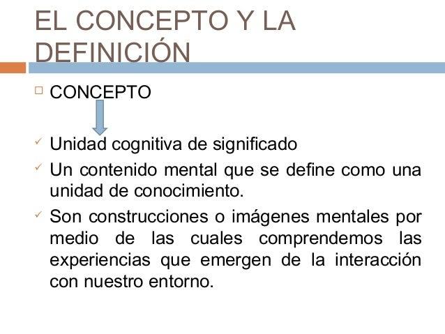 concepto de definicion de terminos: