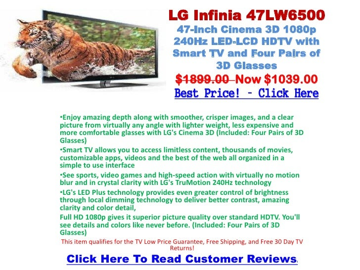LG Infinia 47LW6500                                        47-Inch Cinema 3D 1080p                                       2...