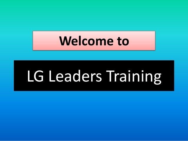 LG Leaders Training Seminar