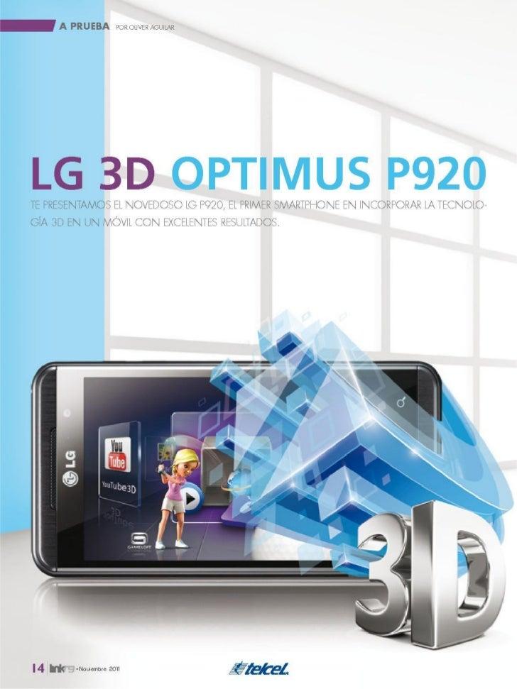 Lg optimus 3D Sus detalles