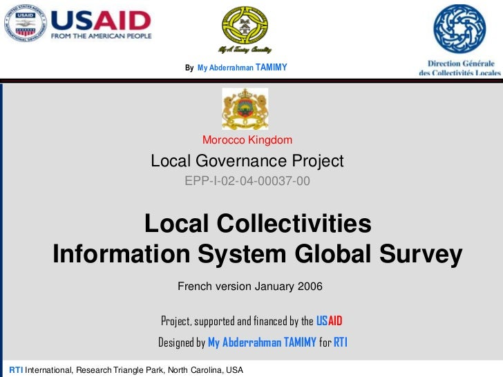 Morocco Local Governance Project