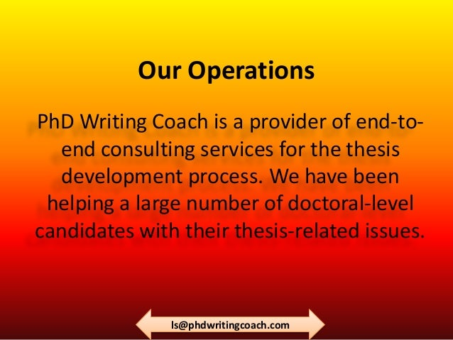 Dissertation writing coach
