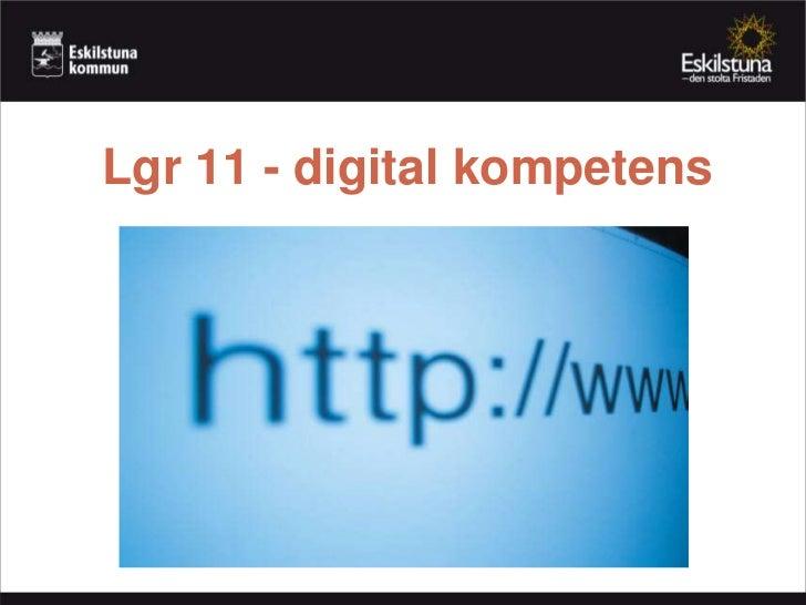 Lgr 11 och digital kompetens
